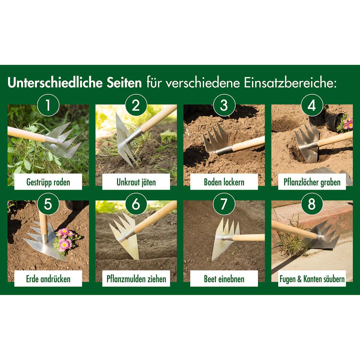Ruwi Gartenharke 8 in 1, Edelstahl | #2
