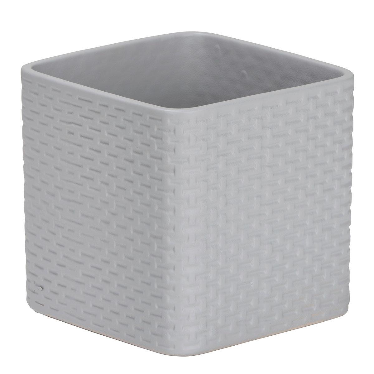 Scheurich Keramik-Übertopf Light Grey, rechteckig 13 cm   #2