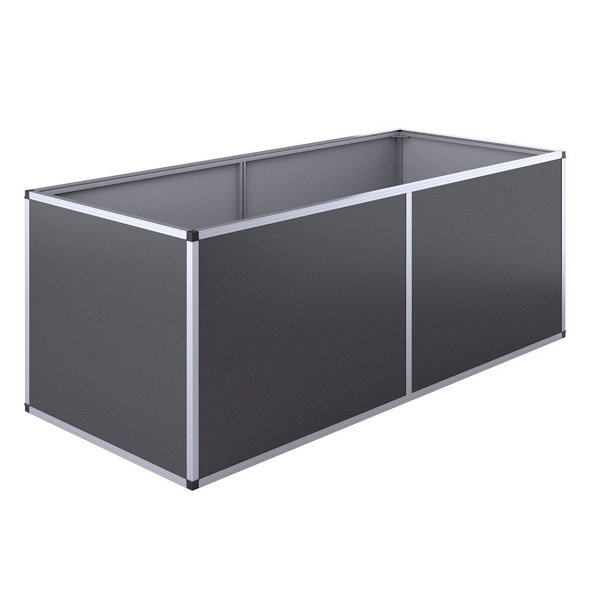 Aluminium-Hochbeet 210, anthrazit /silber, 205x91x77 cm   #2