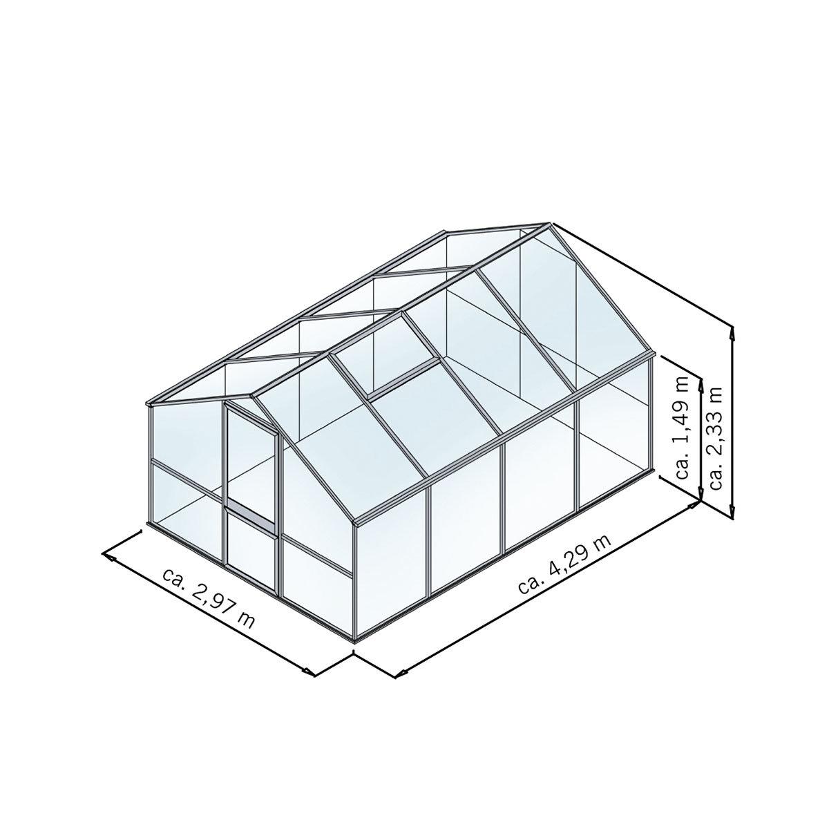 Gewächshaus Tulpe IV 297 x 429 cm, anthrazit-grau | #2