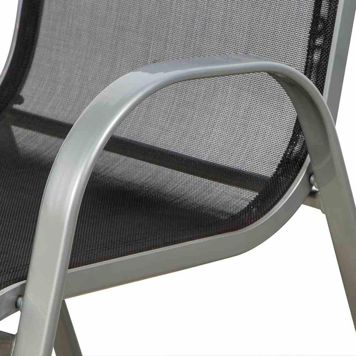 Stapelsessel Saturn, Aluminium, 96x55x75 cm, silber | #2