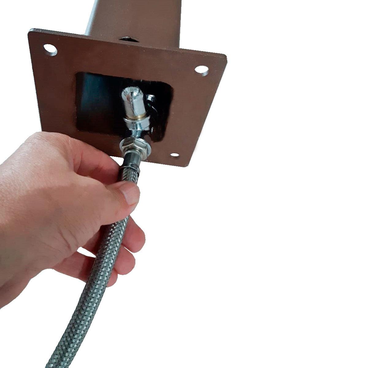 Überirdischer Flexischlauch für Wassersäule Tondo, Quadra und Silverline, 47x7x2,5 cm, Stahl | #2