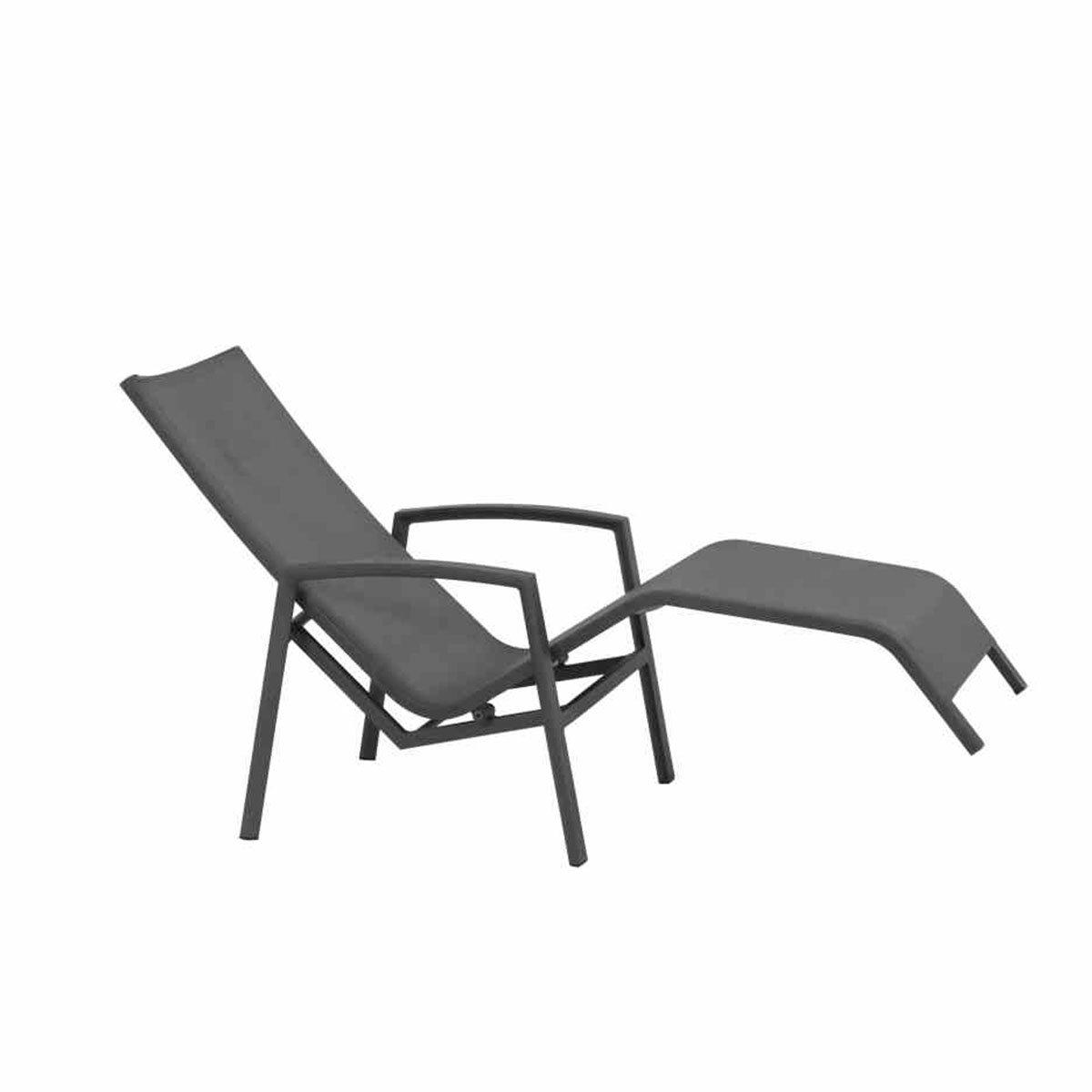 Gerona Sonnenliege, 103x68x148 cm, Aluminium, grau | #2