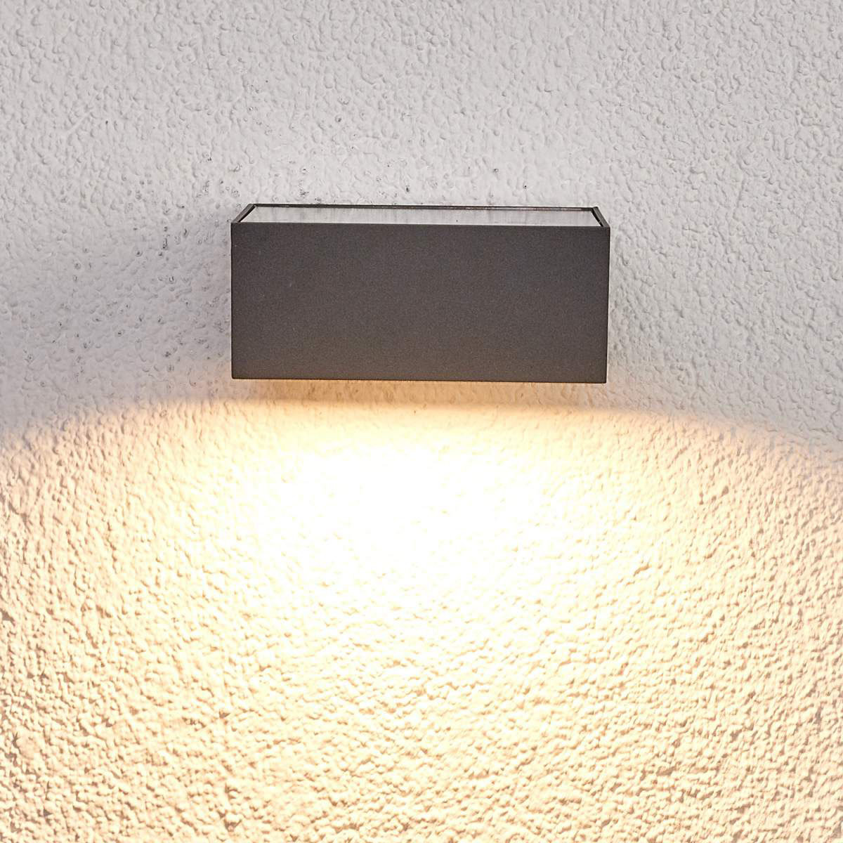 Solar-Led-Außenwandleuchte Mahra mit Bewegungsmelder, 6x14,5x14,5 cm, Aluminium, grau | #2