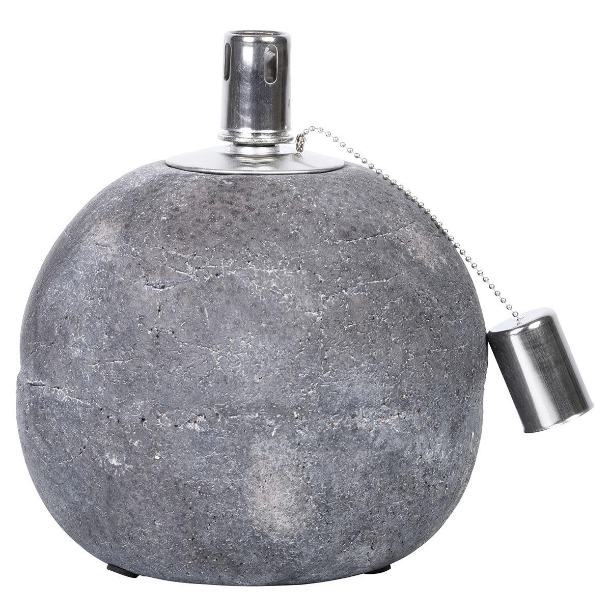 Tischöllampe Stone, 21x18x18 cm, Beton, Edelstahl, grau   #2