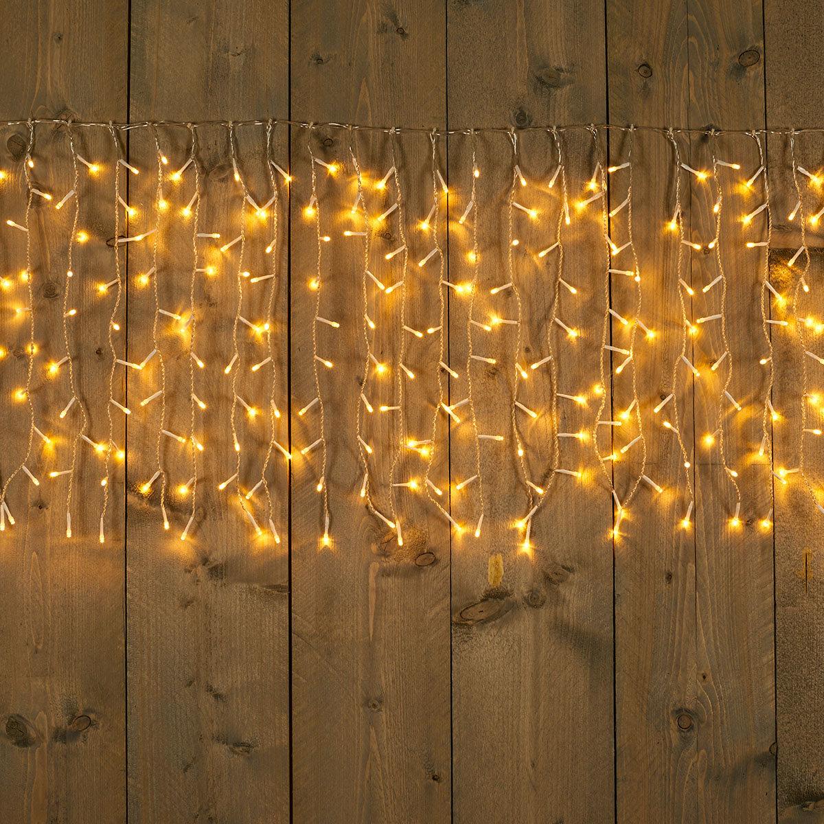 LED-Eiszapfenvorhang, 500 cm, transparent | #2