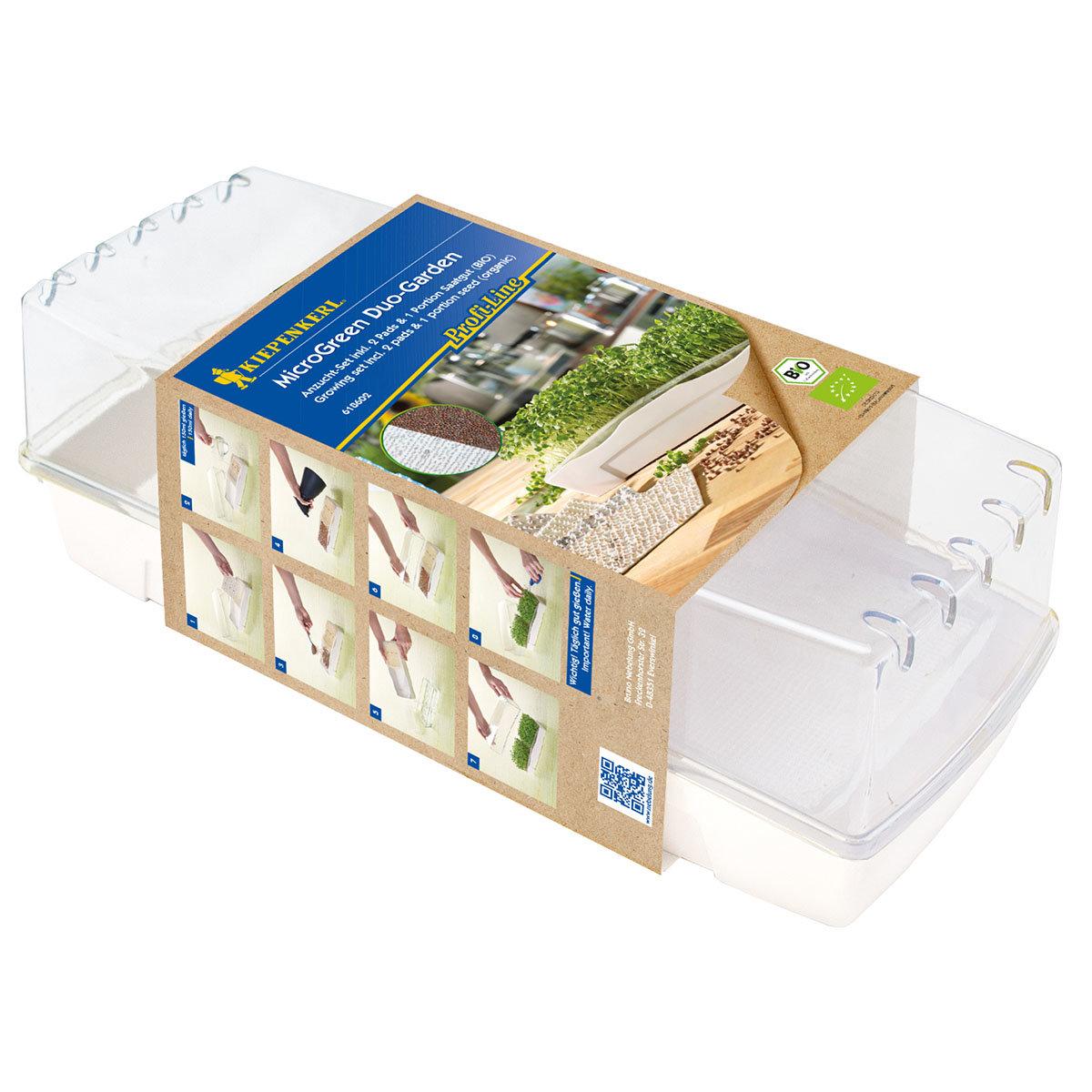 MicroGreen Duo-Garden Anzucht-Set mit 2 Pads & 1 Port. Saatgut | #2