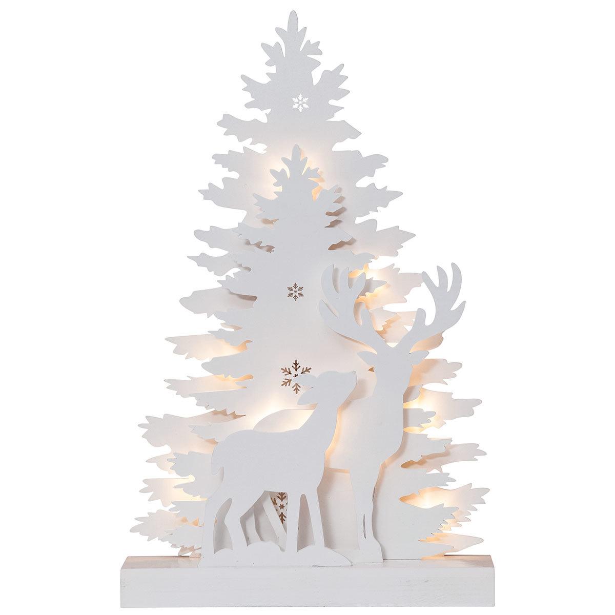 LED-Fensterleuchter Winter Emotion, 44x28x6 cm, Holz, weiß   #2