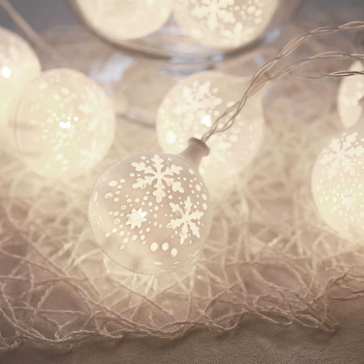 LED-Lichterkette Snowflake, 135 cm, Kunststoff, weiß | #2