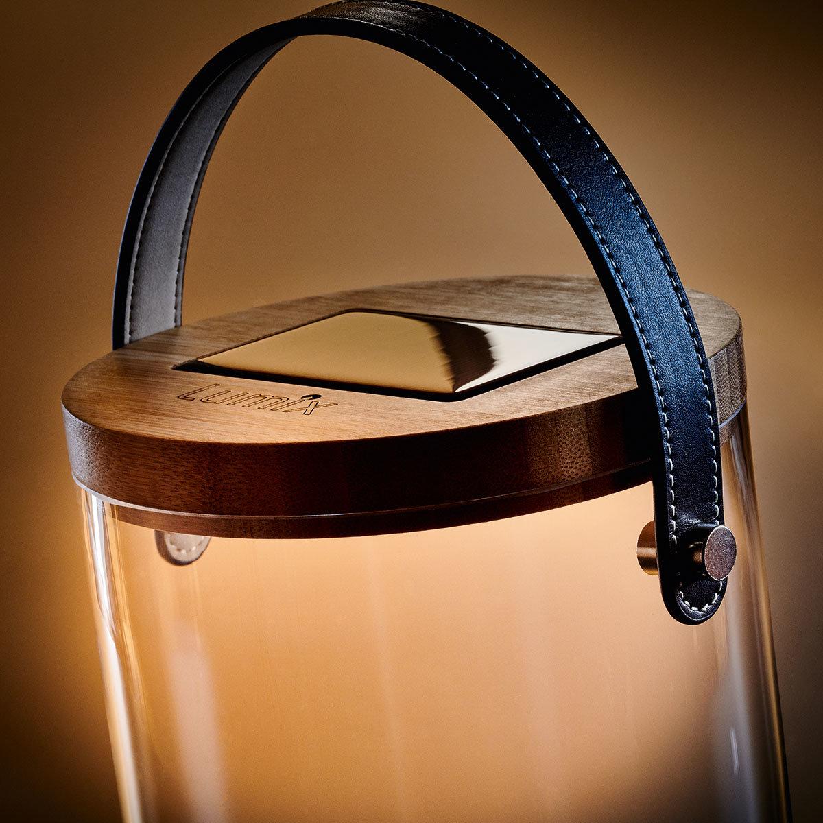Deko Glas Bold, 31 cm, Glas, Bambus, klar | #2