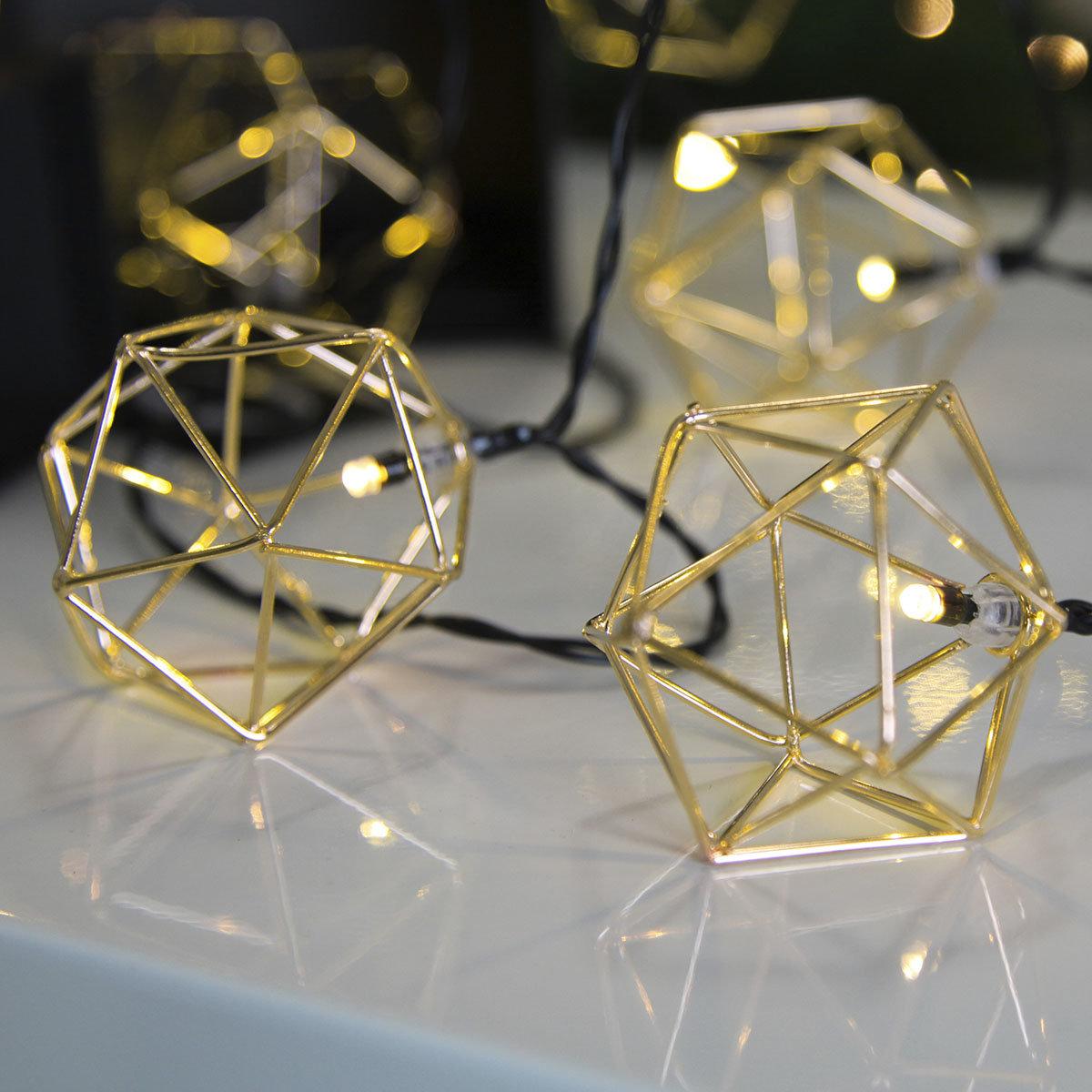LED-Lichterkette Edge, 225 cm, Metall, gold | #2