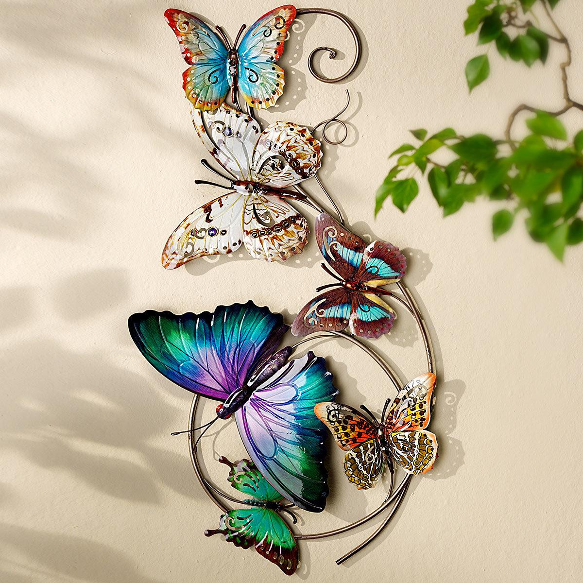 Wanddeko Schmetterlinge, 73x37 cm, bunt | #2