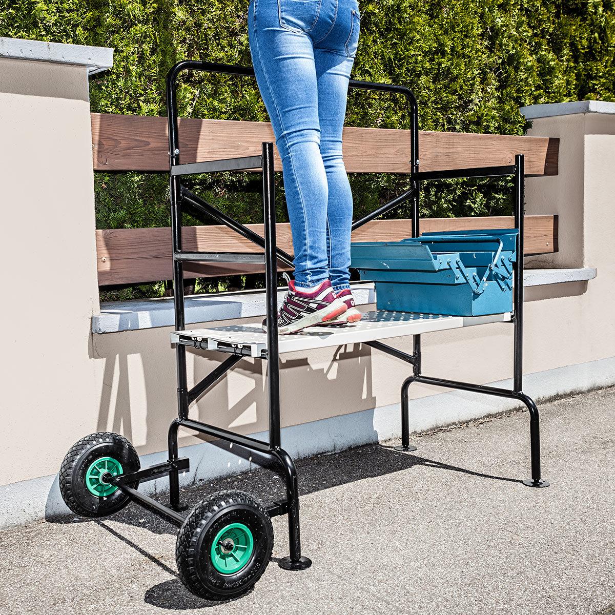 Mobiles Gerüst mit luftgefüllten Reifen, Tragkraft ca. 150 kg | #2