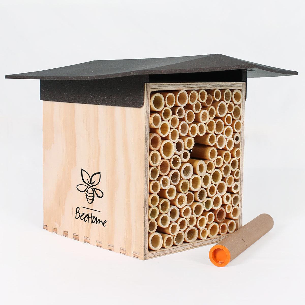 Insektenhotel BeeHome mit Gutschein für Mauerbienenkokons | #2