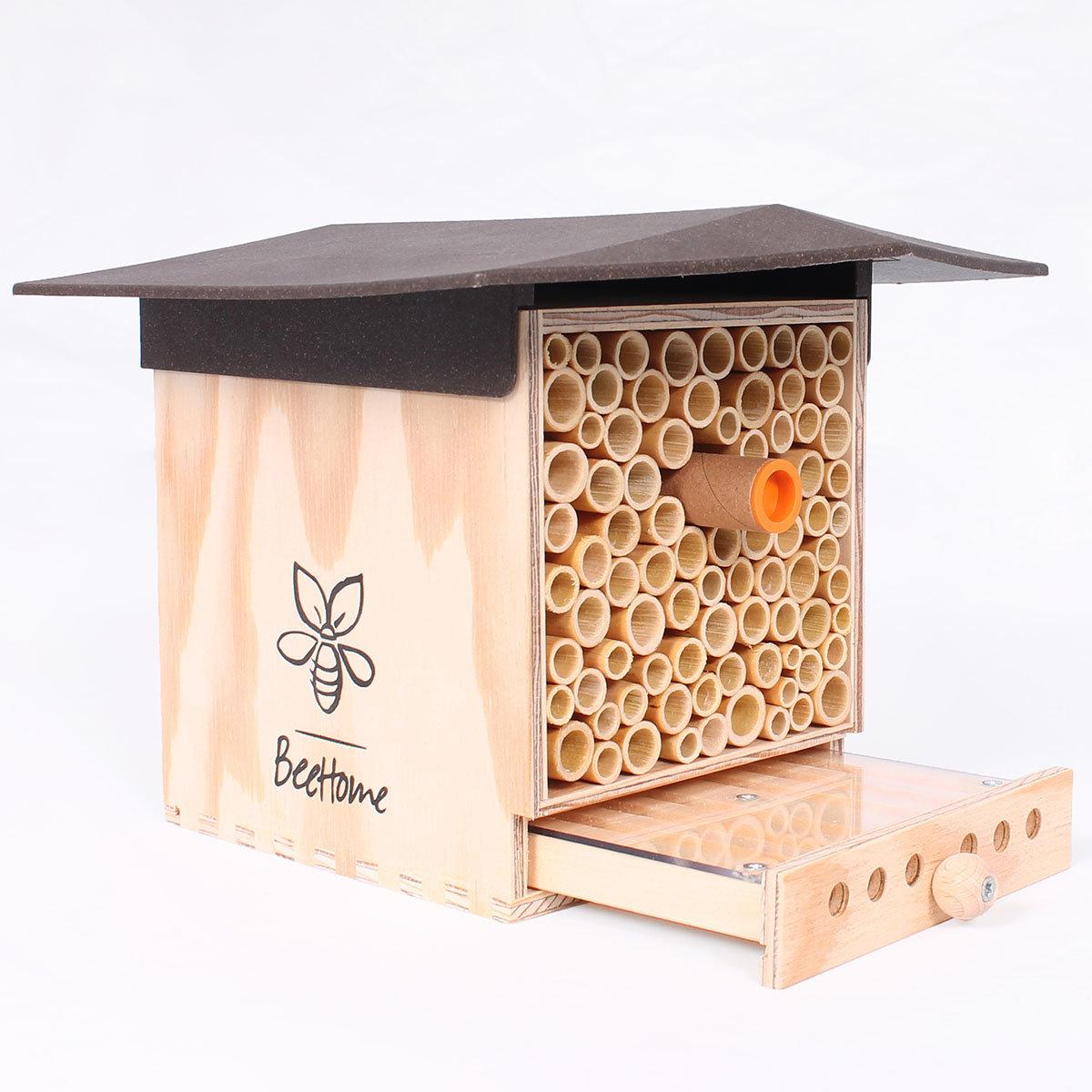 Insektenhotel BeeHome Observer mit Gutschein für Mauerbienenkokons | #2