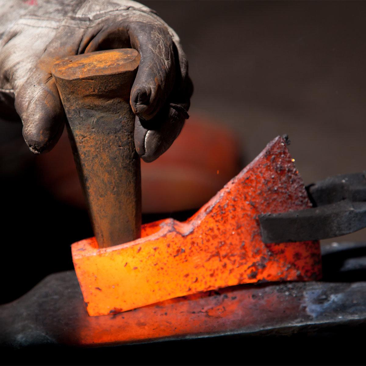 Holzspalthammer 3,2 kg, Lederstiel- und Lederschneidenschutz und USA-Hickorystiel | #2