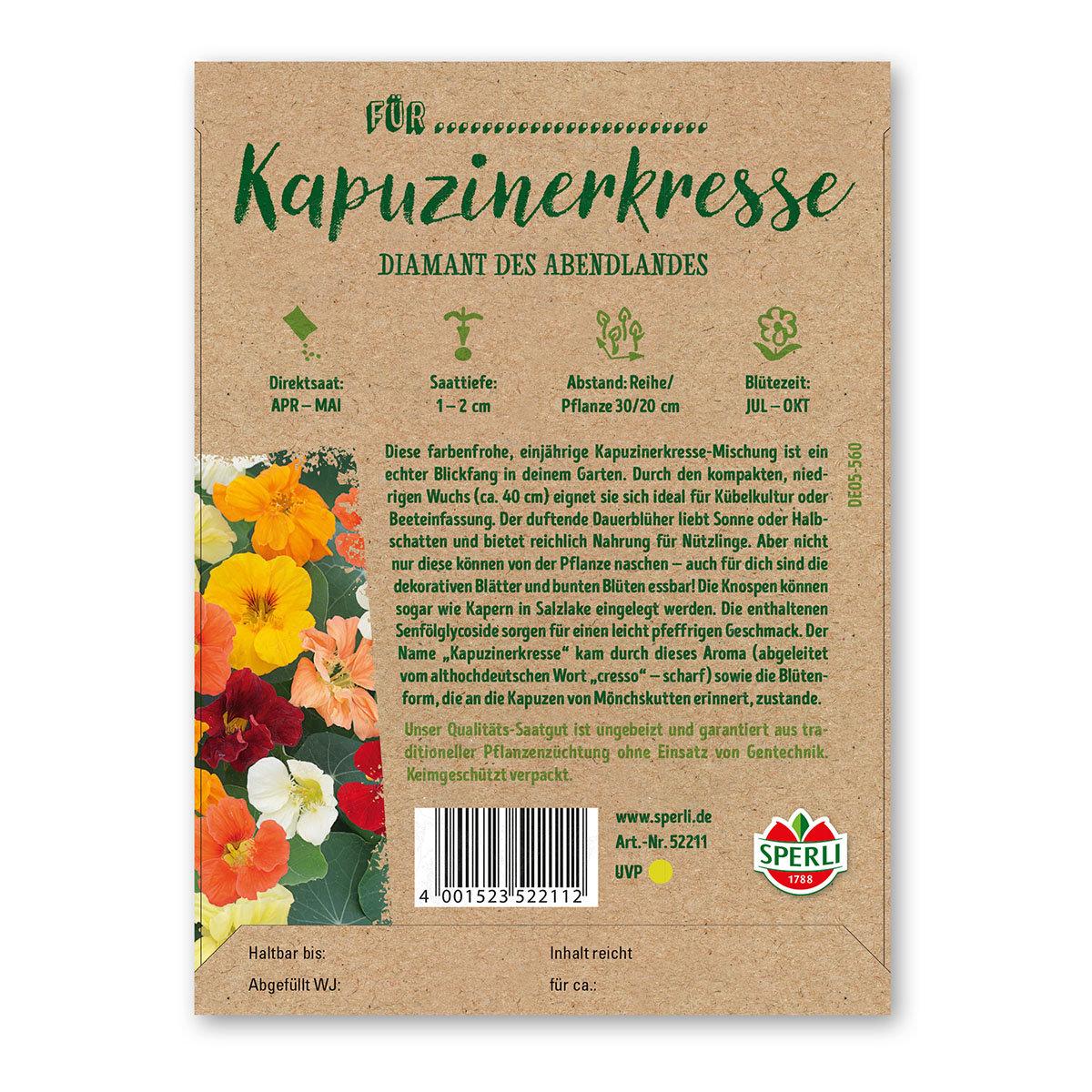 Geburtstagskarte Saatguttüte zum Verschenken - Kapuzinerkresse | #2