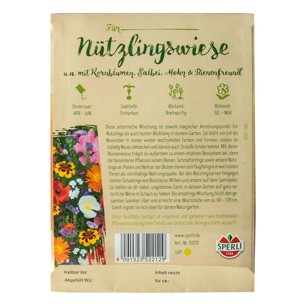 Saatgut Wundertüte zum Verschenken - Nützlingswiese | #2