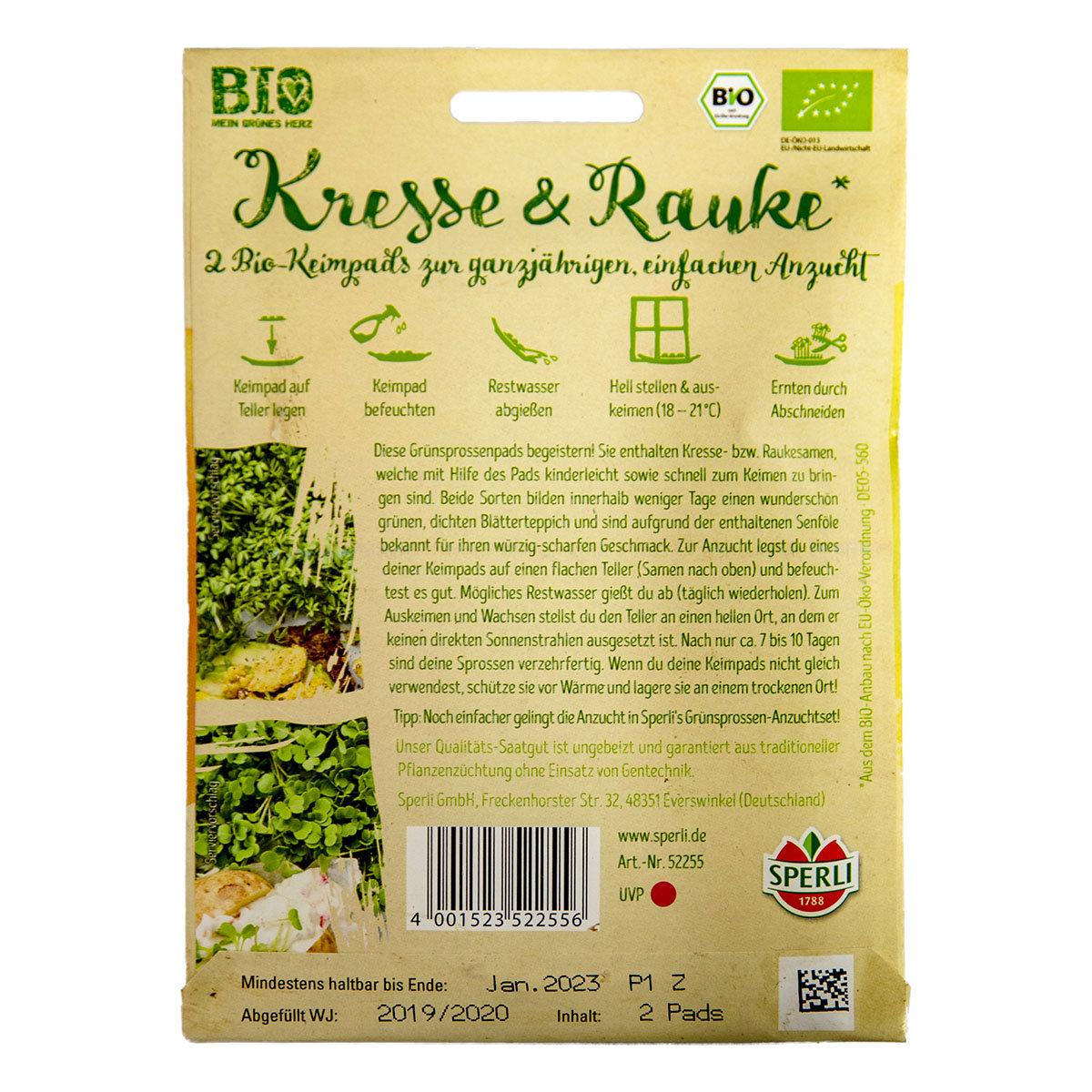 BIO Herztüte Microgreens, Kresse- und Raukepad | #2