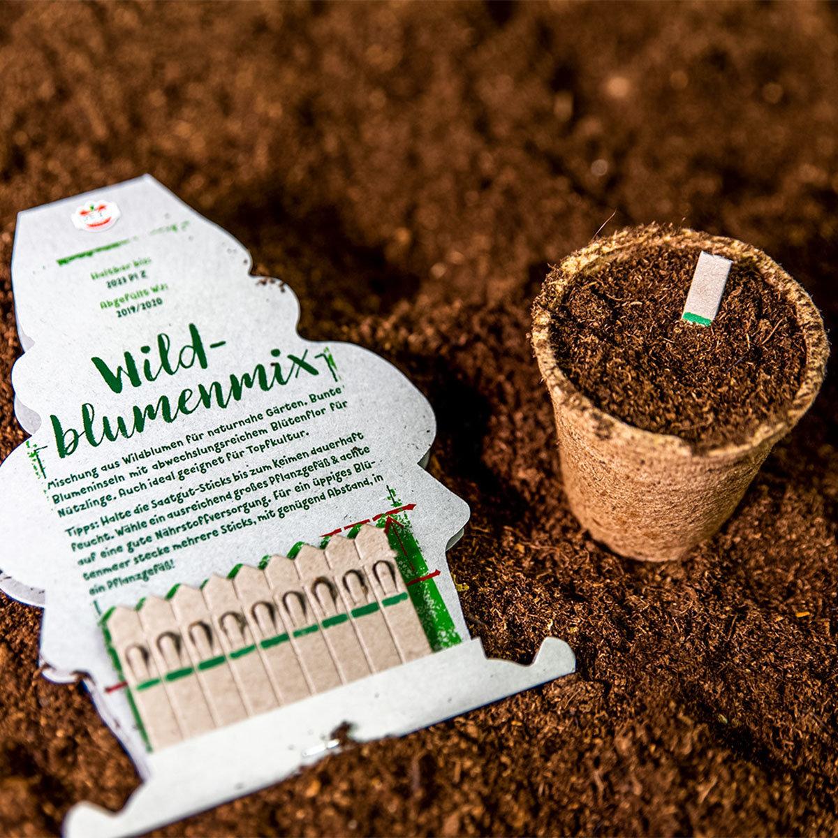10 Saatgut-Sticks zur einfachen Anzucht, Wildblumenmischung | #2