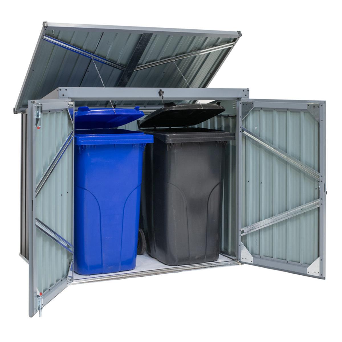 Mülltonnenbox 240l Stahlblech, 2er Box | #2