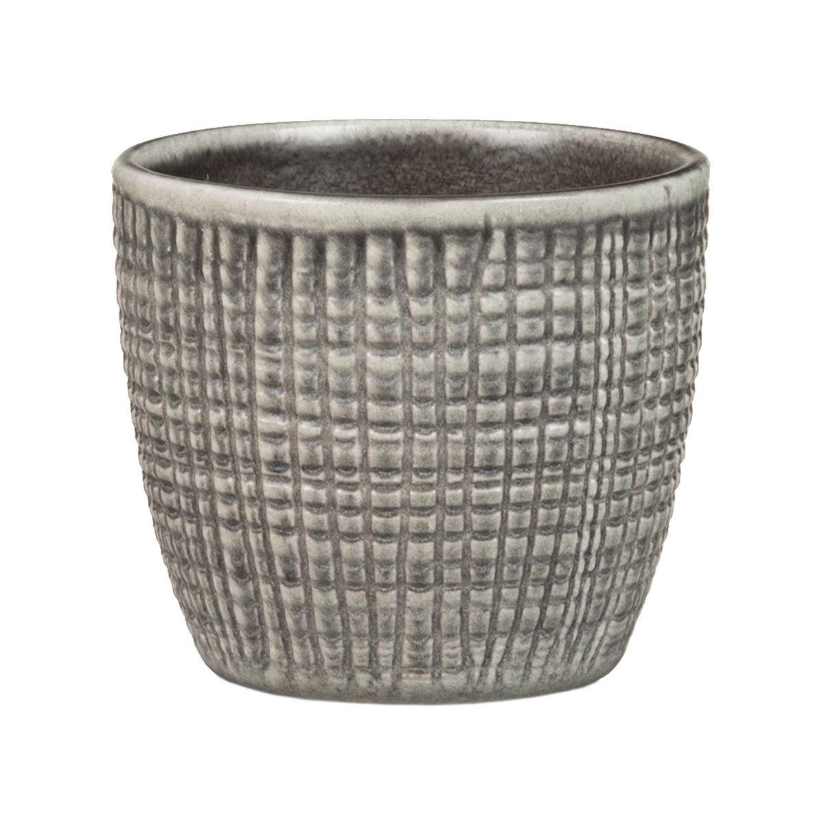 3er-Set Keramik-Übertöpfe 6cm, Grau | #2