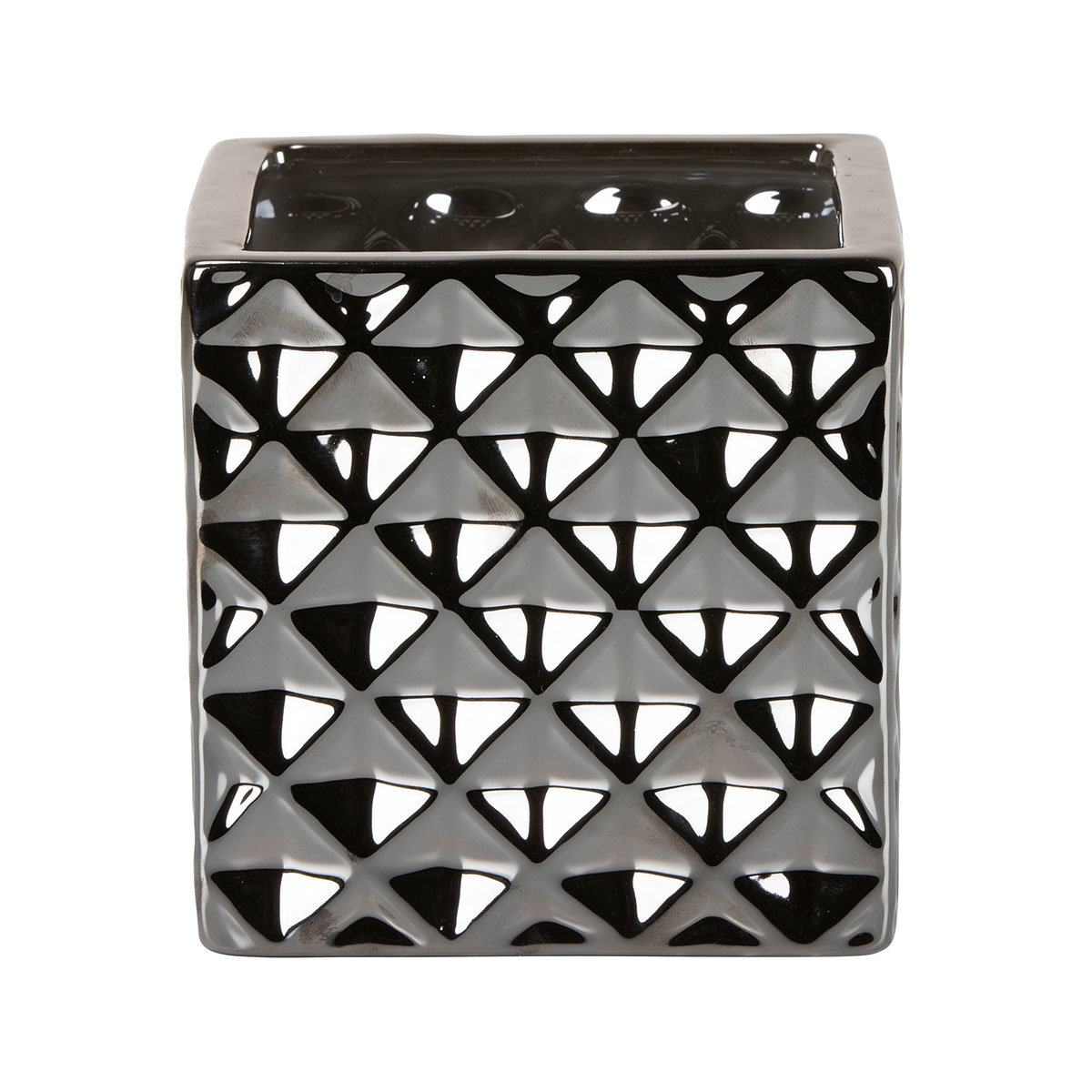 Übertopf Titanium Silver Cube, 15 cm, Silber | #2