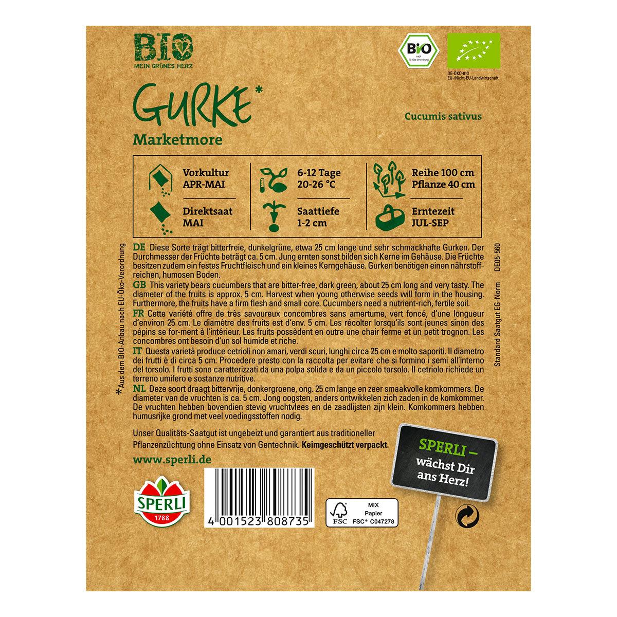 BIO Gurkensamen Marketmore | #2
