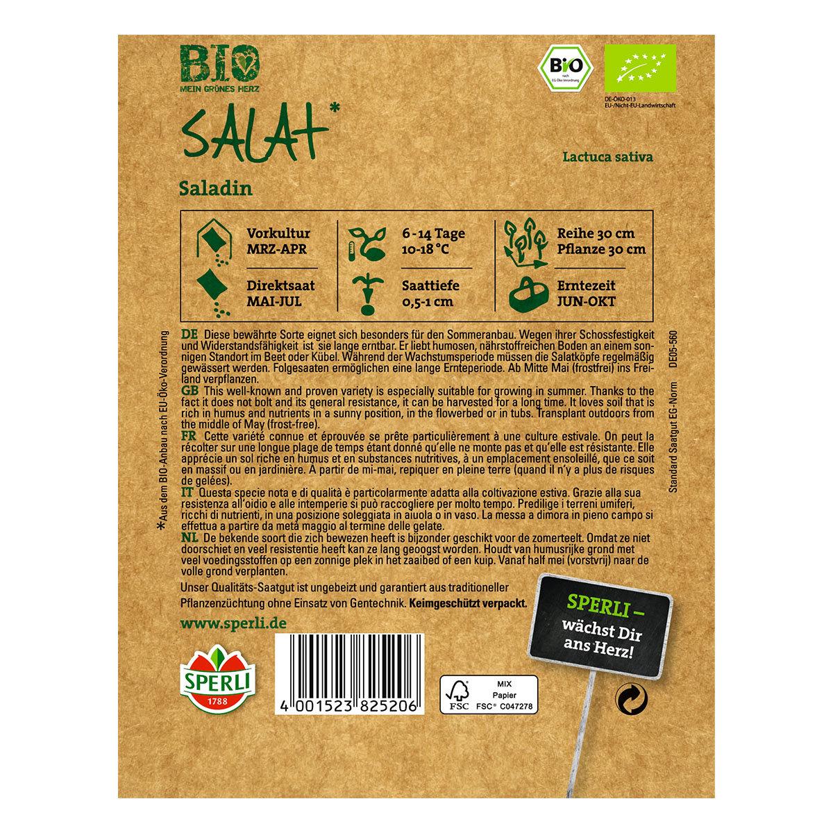 BIO Eissalatsamen Saladin   #2