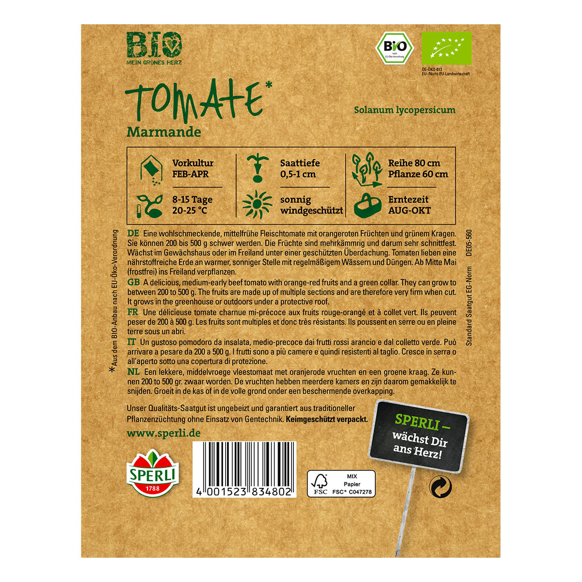 BIO Tomatensamen Marmande | #2
