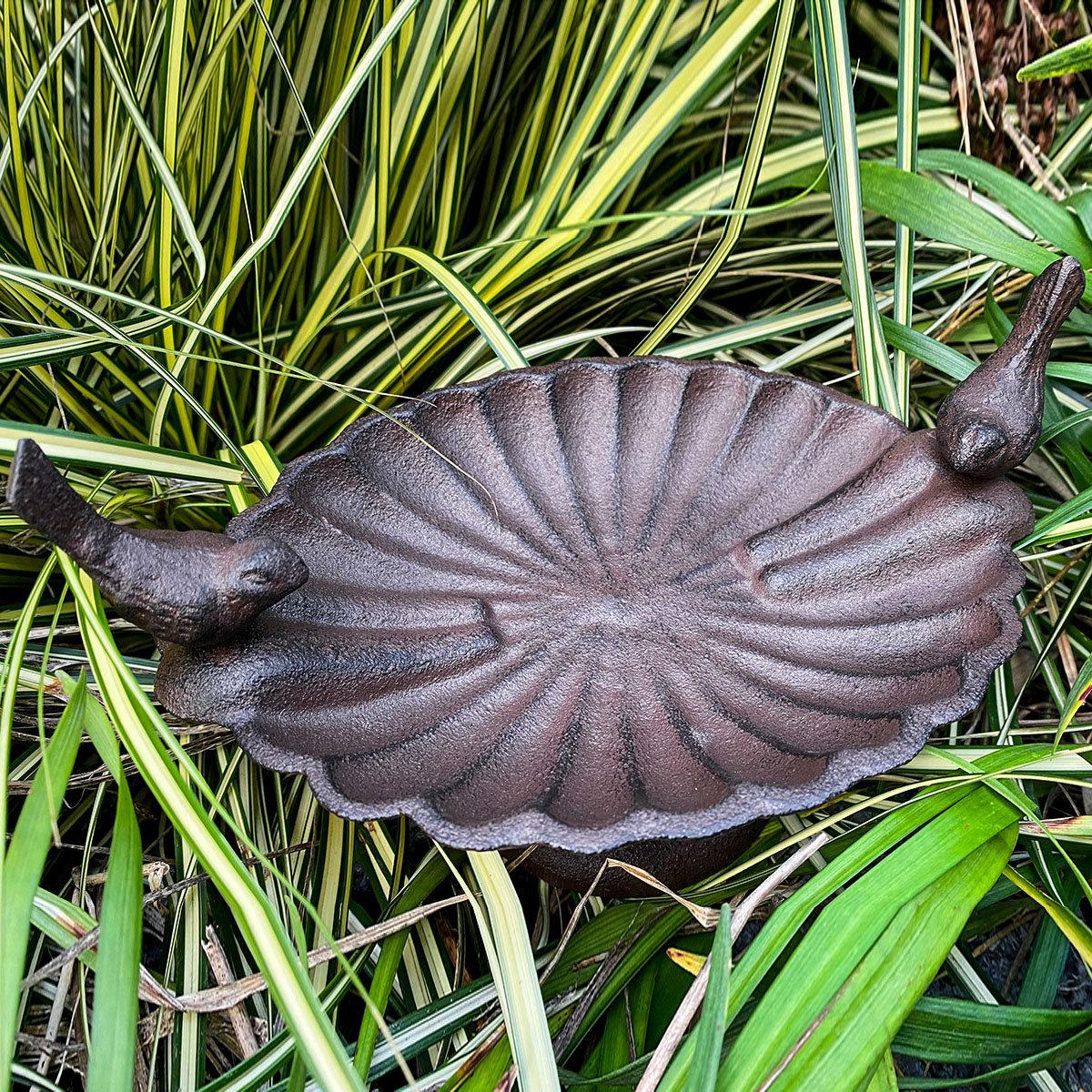 Dekorative Vogeltränke Piepmatz, Gusseisen, ca. 23 cm | #2