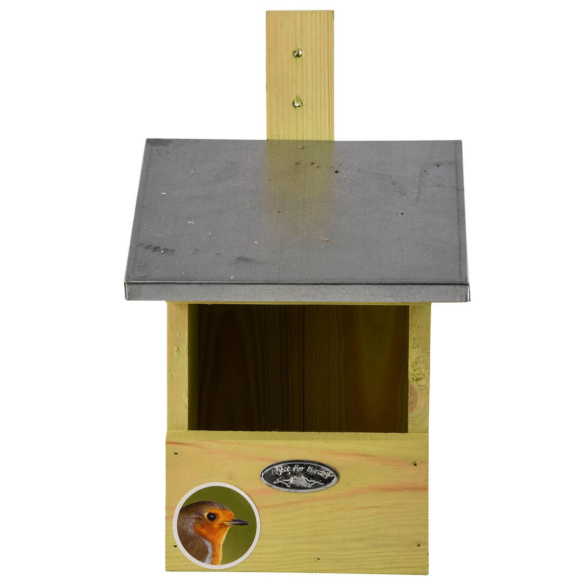 Nistkasten Rotkehlchen mit Zinkdach, ca. 21 x 19 x 33 cm | #2