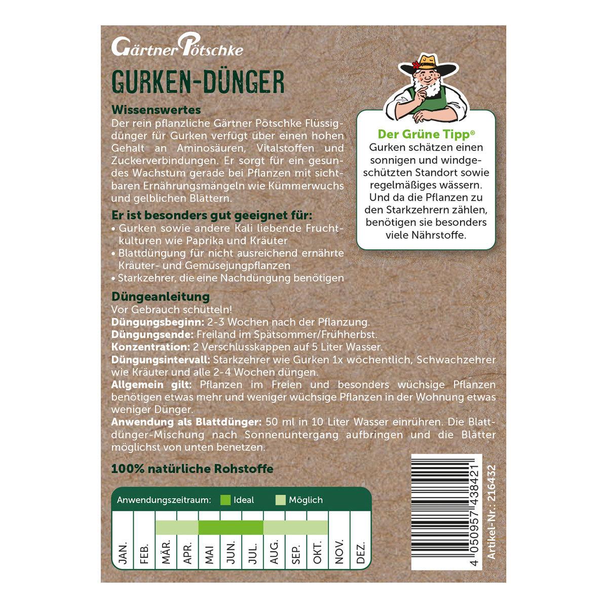 Gurken-Dünger flüssig, 1 l | #2