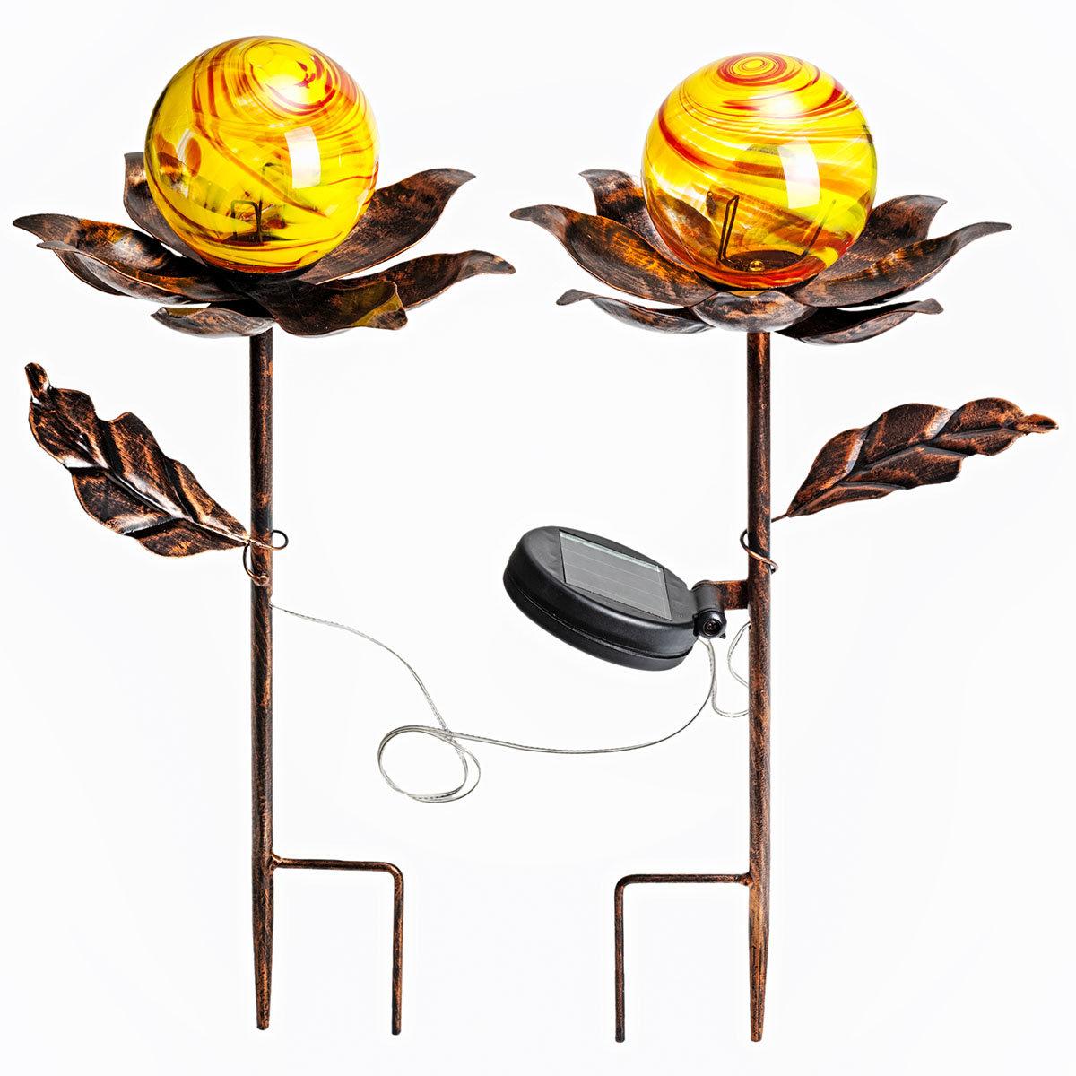 Solar-Gartenstecker Blume, 2er-Set | #2