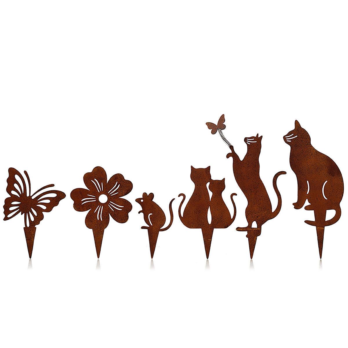 Dekostecker Katzenfreunde, 6er-Set, mit Erdspieß | #2