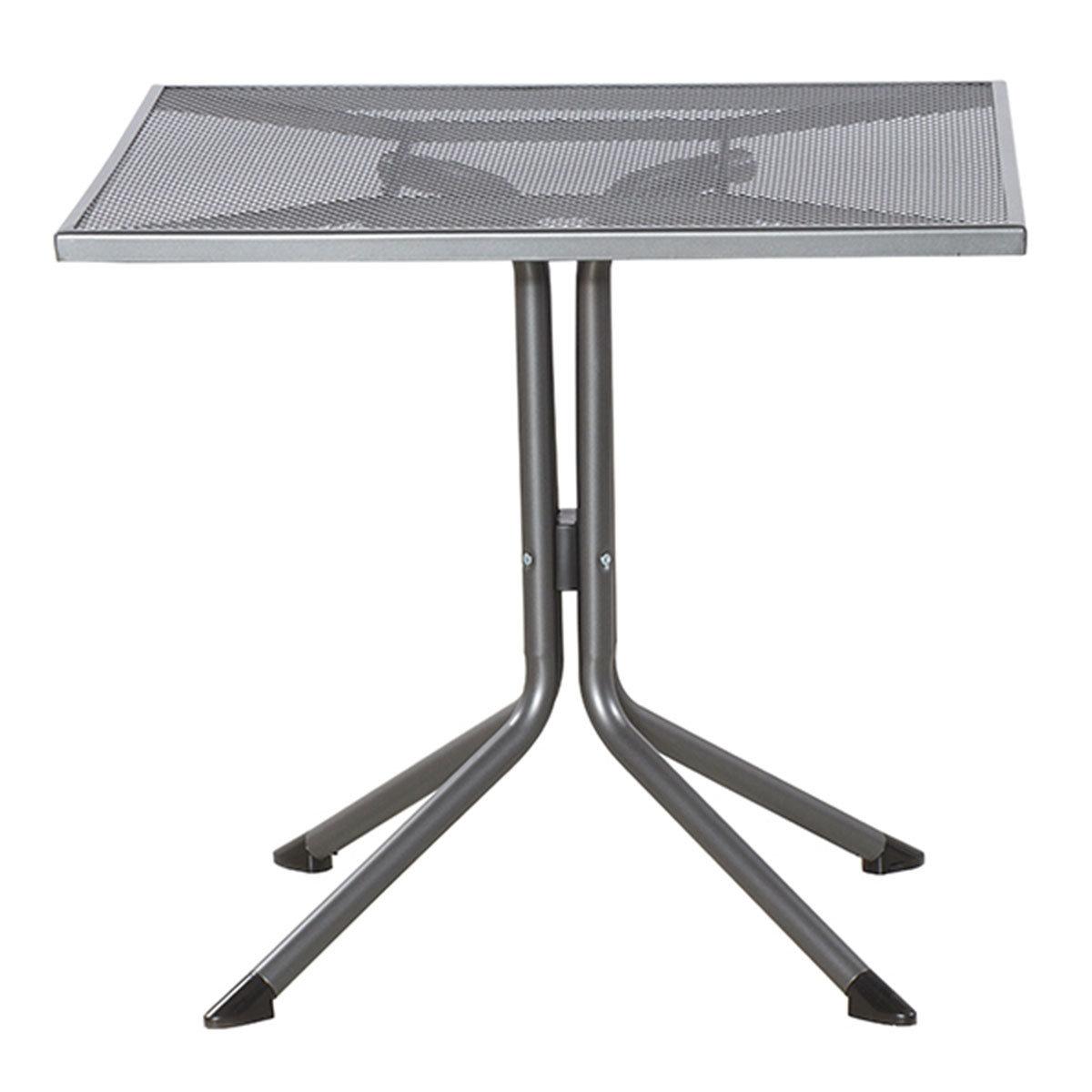 Gartenmöbel-Set Elda mit 2 Stapelsesseln und 1 Tisch(80x80), Stahlgeflecht | #2