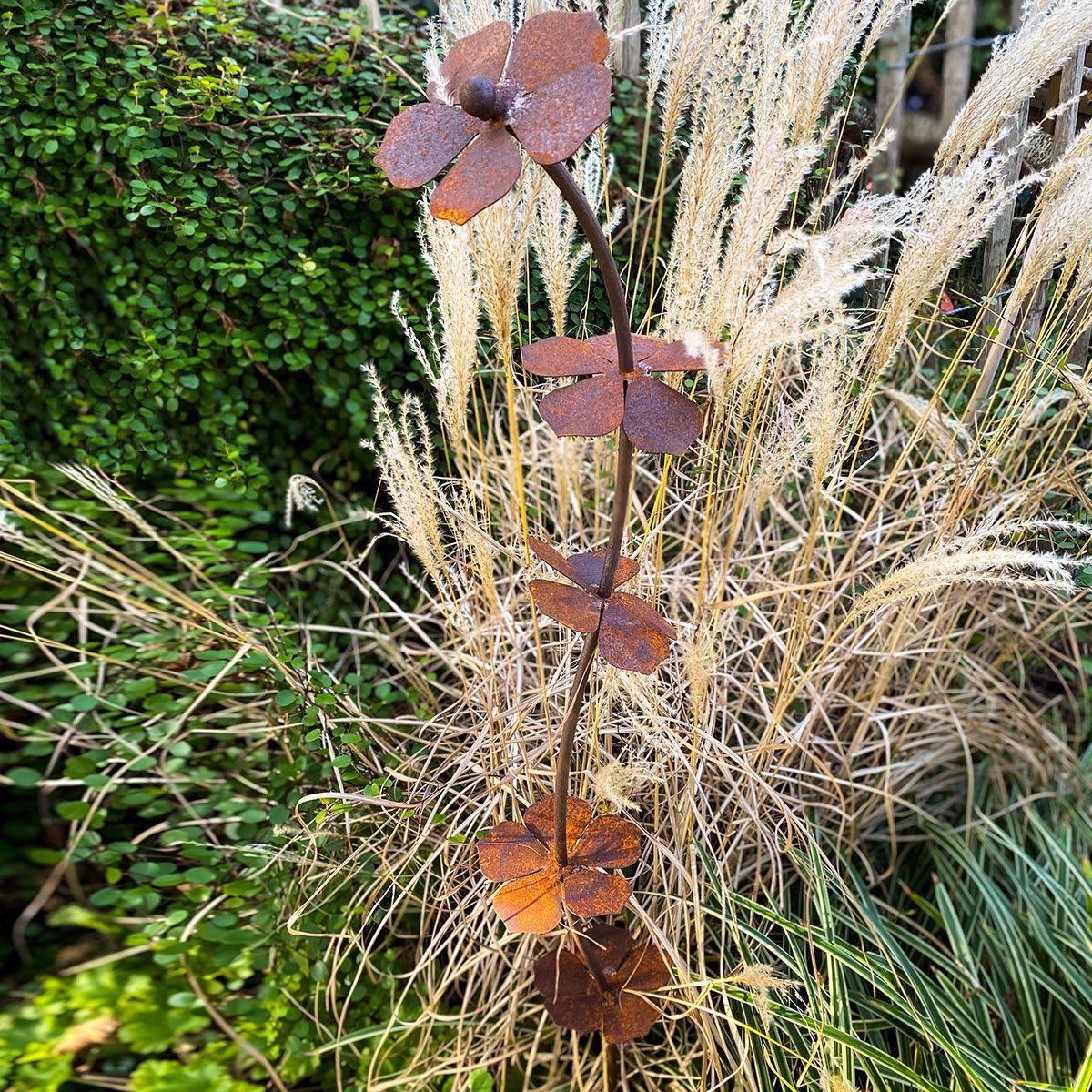 Gartenstecker Blütenturm, Edelrost | #2