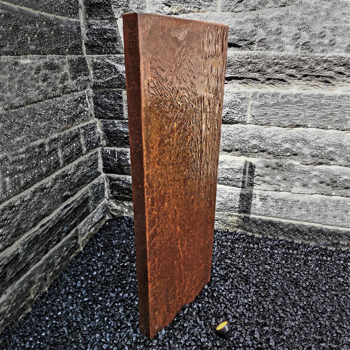 Wasserwand Husum groß, Cortenstahl, mit Zubehör, 180x50x6cm | #2
