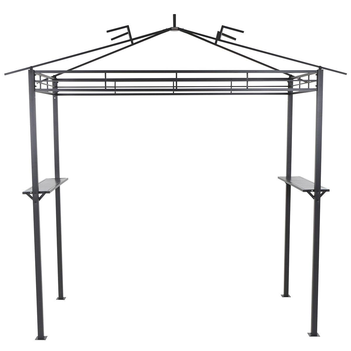 Grillpavillon mit Ablageflächen, 244x127 cm, anthrazit | #2