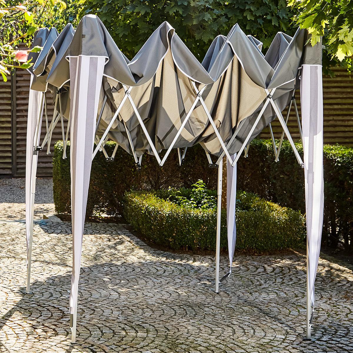 Faltpavillon Classic, 300x300 cm, grau/weiß | #2