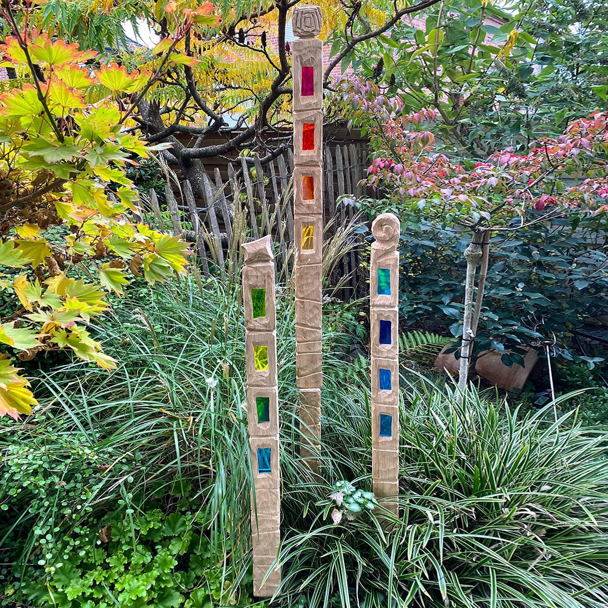 Sonnenfänger Set, mit einer Verlängerung, rot, blau, grün | #2