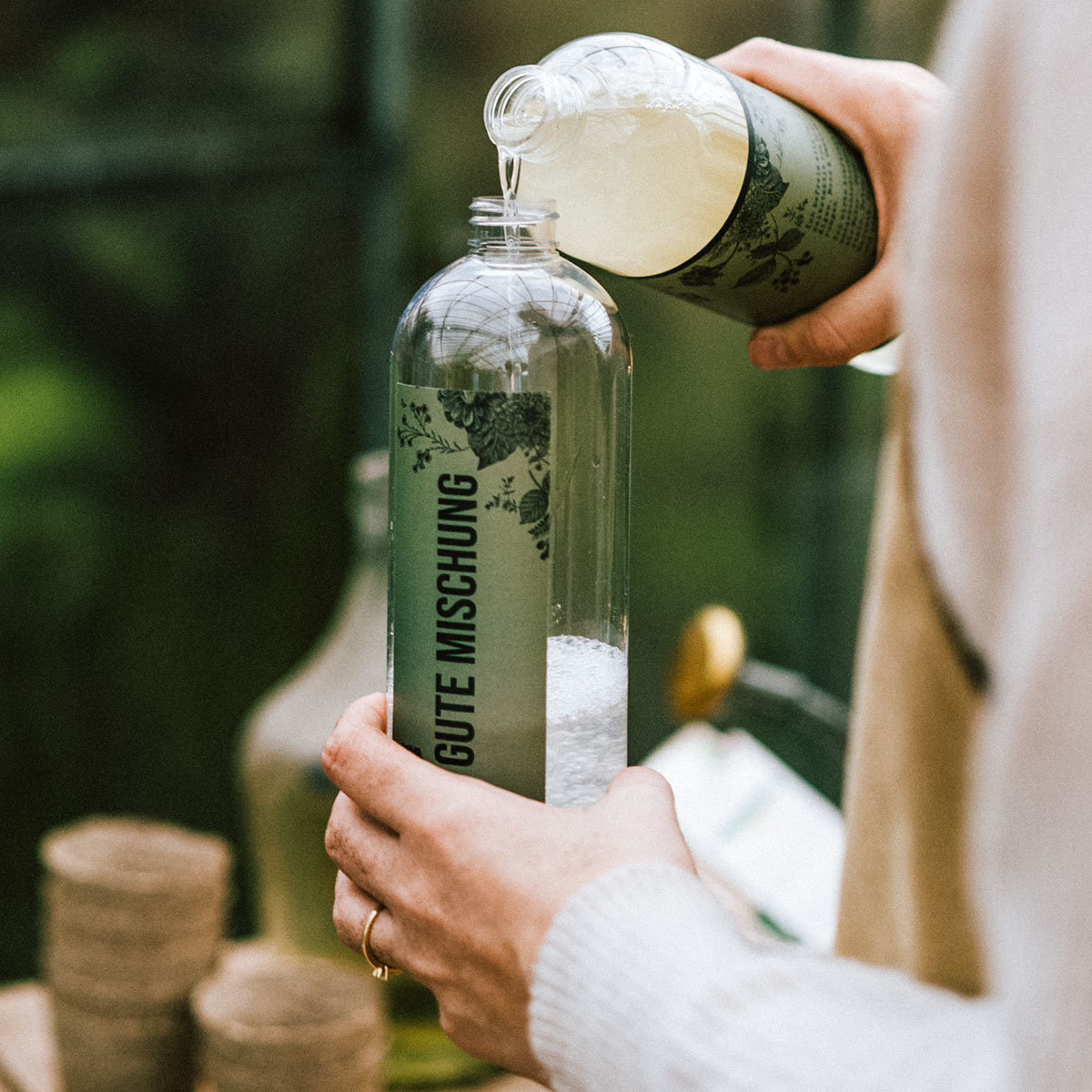 Mischflasche Gute Mischung Garten für Konzentrate, mit Sprühkopf, 750 ml | #2