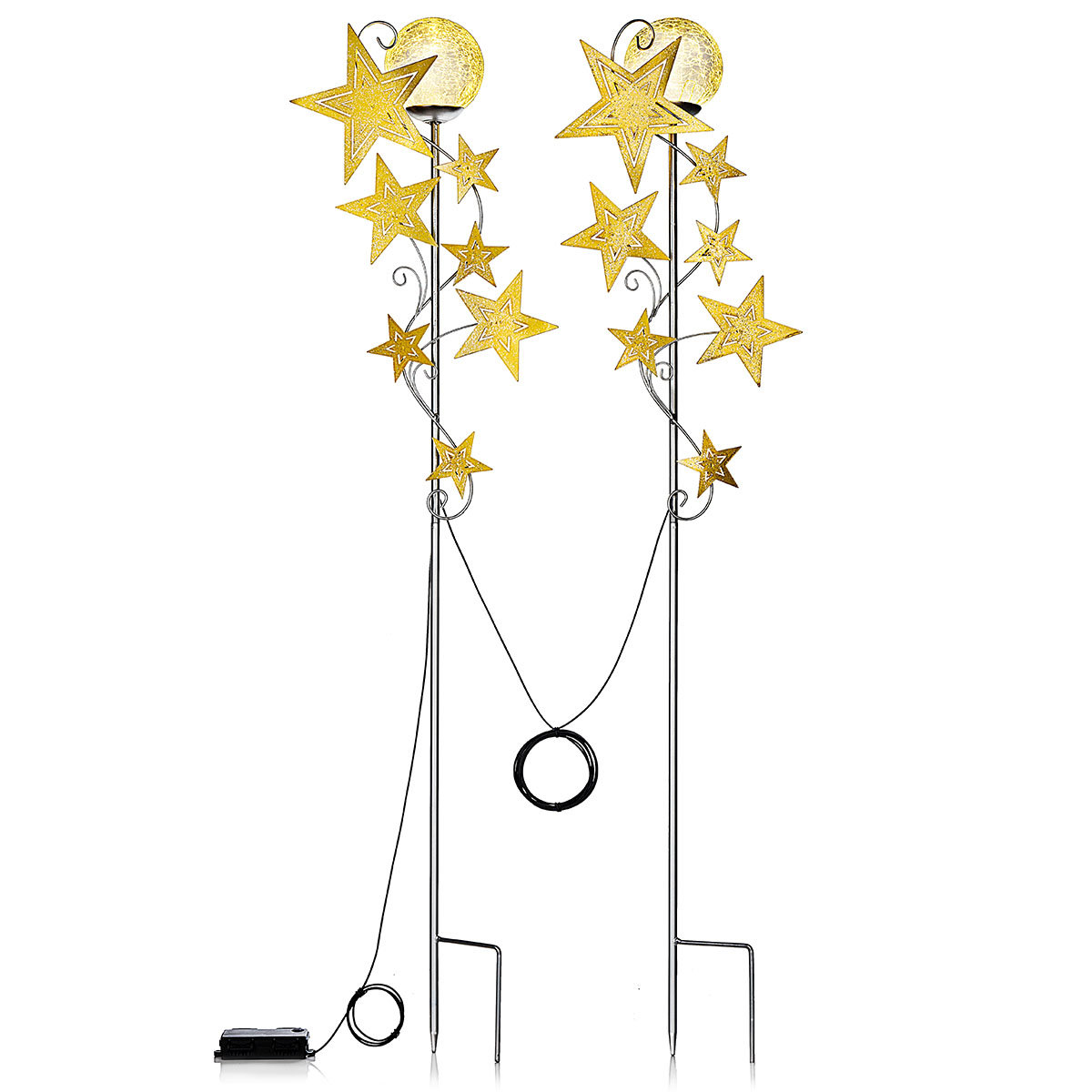 LED-Gartenstecker Sternenschweif, 2er-Set | #2