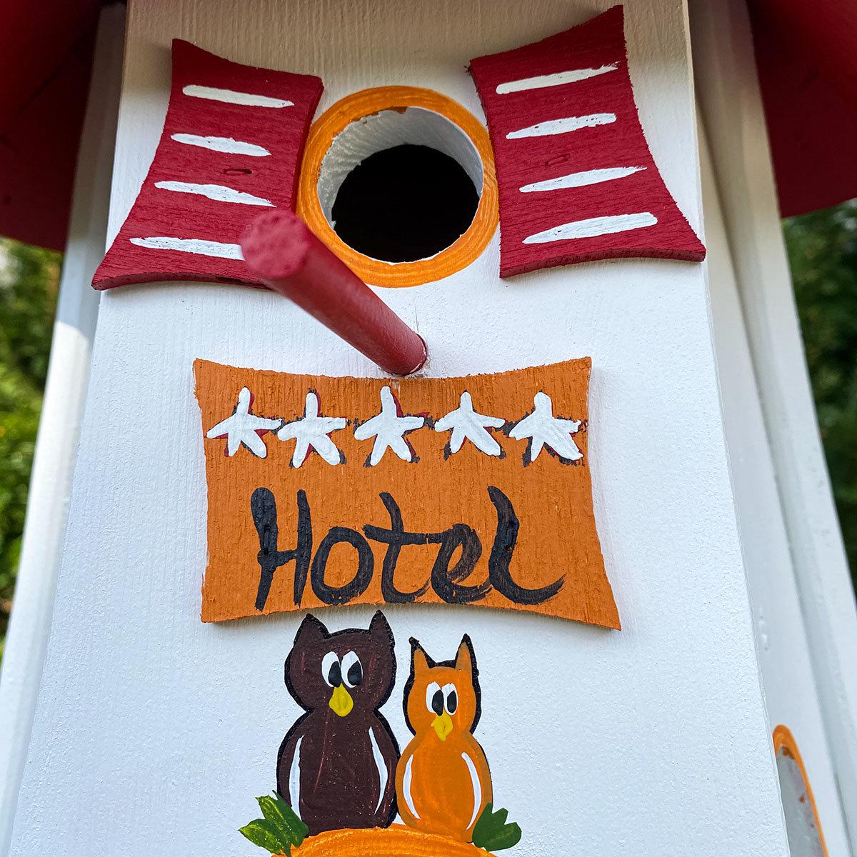 Nistkasten mit Vogelhaus Turmhotel  Zur Eule | #2