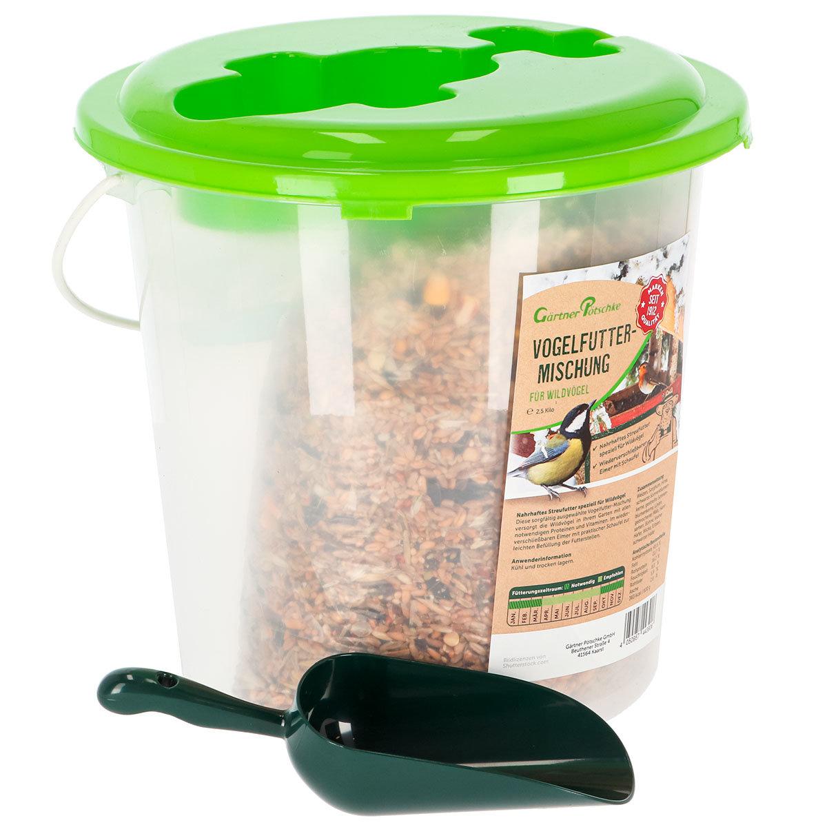 Vogelfutter-MIschung für Wildvögel, im Eimer mit Kelle, 2,5 kg | #2
