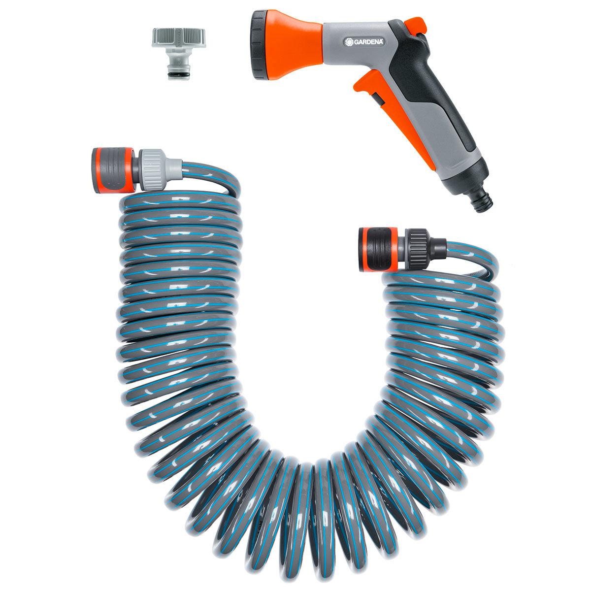 Spiralschlauch-Set 10 m, komplett mit  Impulsbrause und Systemteilen | #2