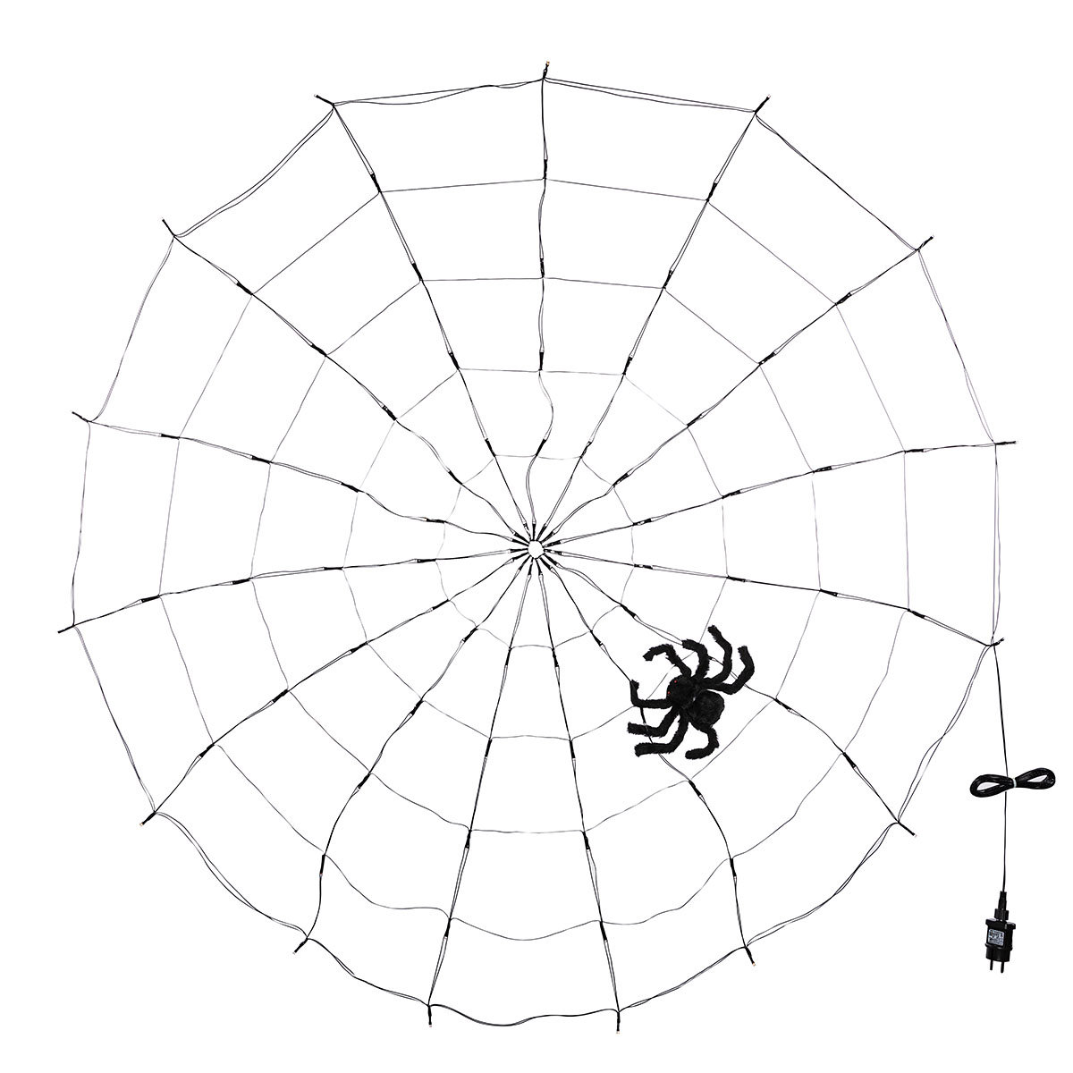 LED-Spinnennetz mit Spinne   #2