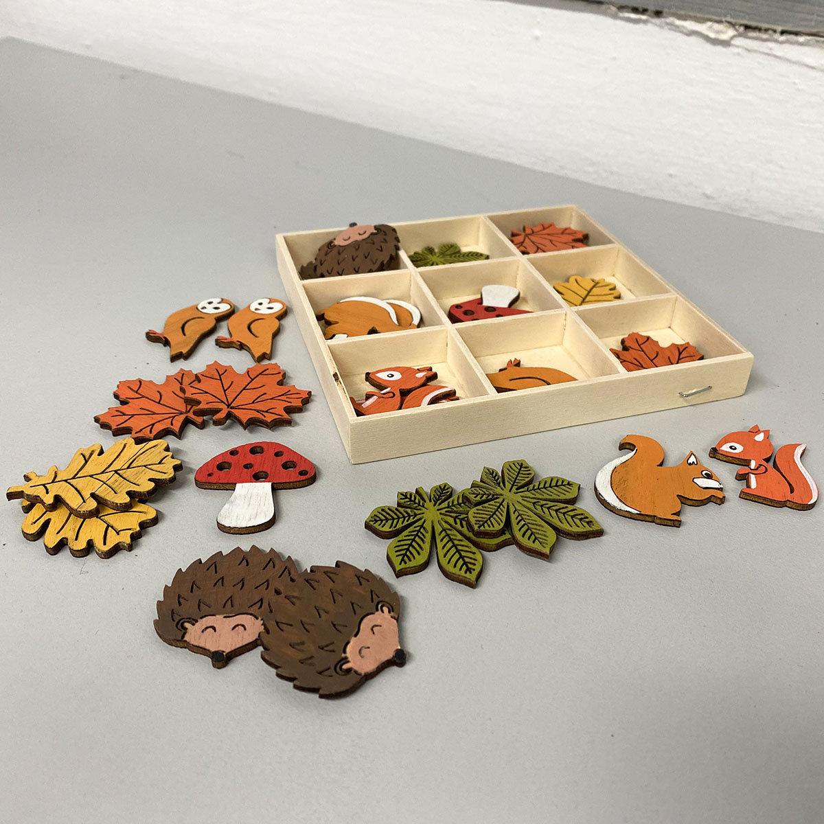 Streudeko - bunte Herbstmotive, 36 Stück   #2