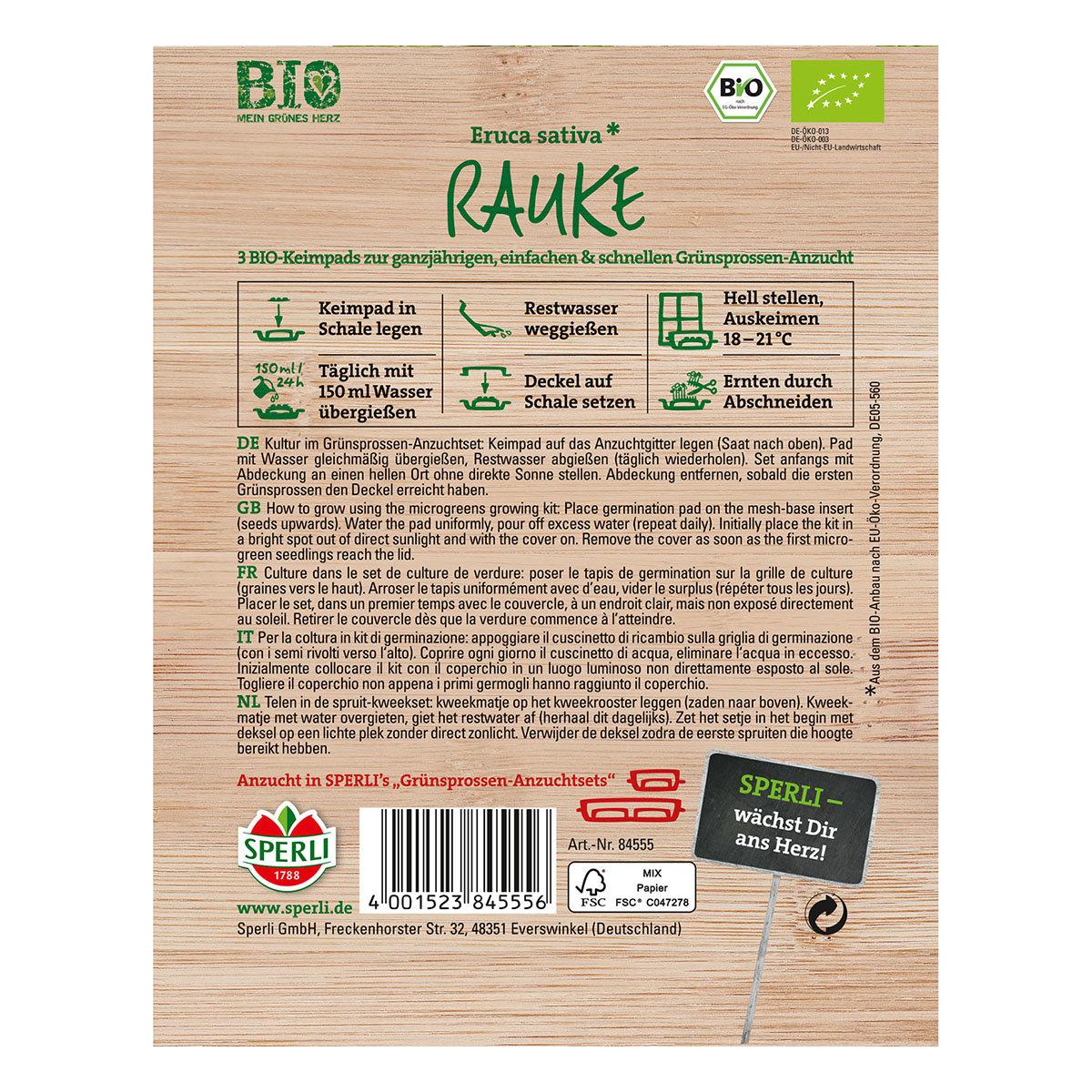 MicroGreen Nachfüllpad BIO Rucola-Grünsprossen | #2