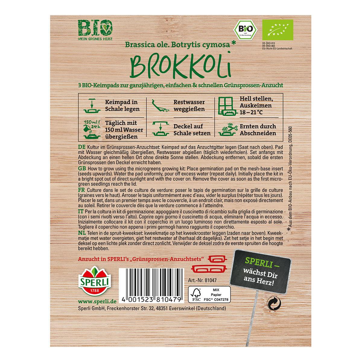 MicroGreen Nachfüllpad BIO Brokkoli-Grünsprossen | #2